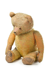 moving hundred years old teddy bear