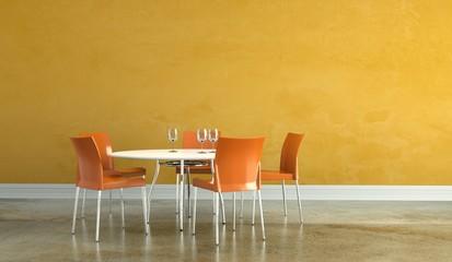 Wohndesign - Esszimmer orange