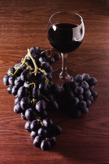 Grapes and red wine glass