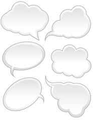 White Speech Bubble Designs