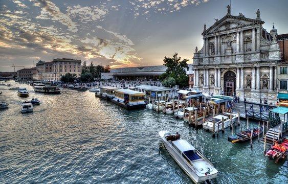 Venice Sunset, Italy.