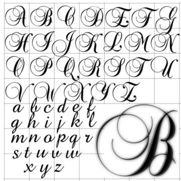 abc alphabet background brock script design