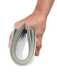 magazine in hand