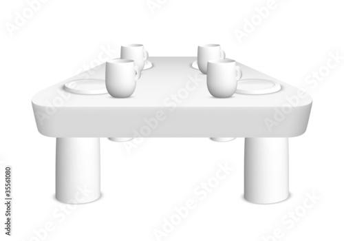gedeckter tisch teller tassen stockfotos und lizenzfreie bilder auf bild 35561080. Black Bedroom Furniture Sets. Home Design Ideas