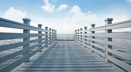 Pier with fence