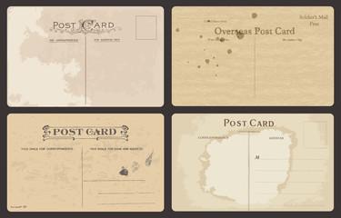 Set of Antique postcards in vector