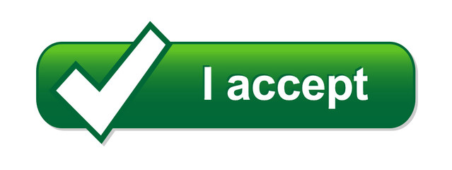 I ACCEPT Web Button (terms and conditions legal agree)