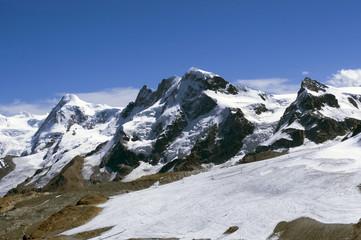 Alpy spod wsch. ściany Matterhornu