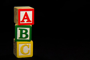 ABC Blocks over black