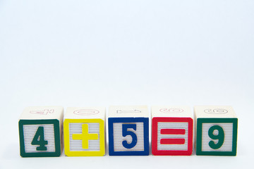 Math Equation with colourful Blocks