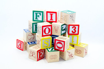 Pile of Alphabet Blocks