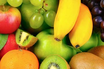 Ripe juicy fruit, background