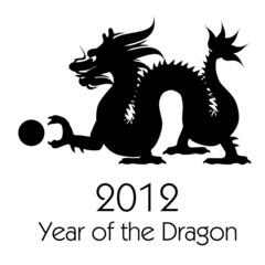 Chinese New Year of the Dragon 2012 Clip Art