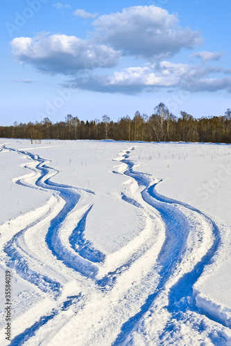 Fototapete Snow ways