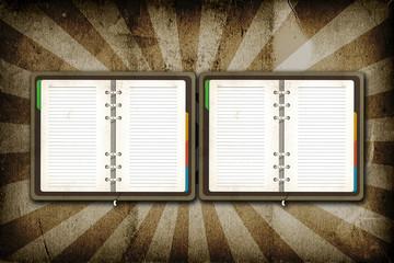Open Blank page on grunge vintage background