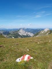Wegweiser am Berg