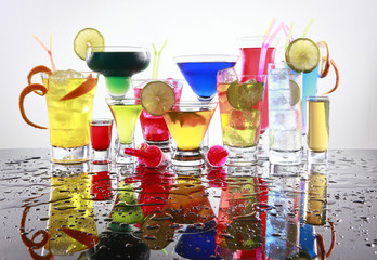 Assorted cocktails fiesta style