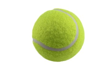 Wall Mural - Tennis ball isolated on white background