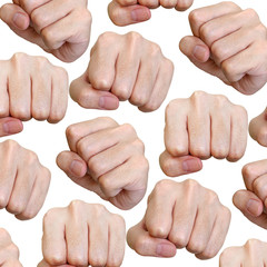 Punch fist pattern isolated