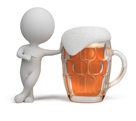 3d small people - beer