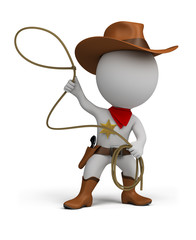 3d small people - cowboy