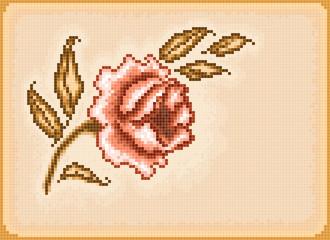 Fotobehang Pixel Floral pixel background