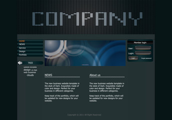 Stylish website template