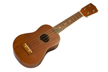 ukulélé, petite guitare hawaienne isolée