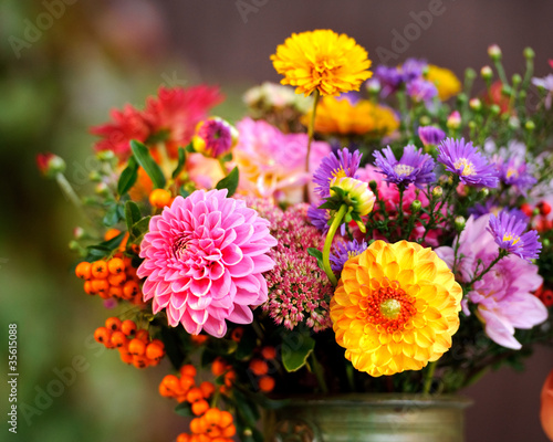 Herbst Blumenstrauss Stock Photo And Royalty Free Images On Fotolia