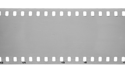 Old film isolated on white background