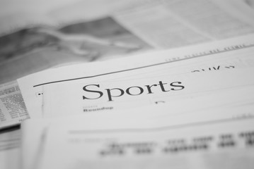 newspaper, sports page