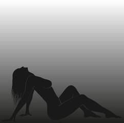 Obraz lying naked woman - fototapety do salonu