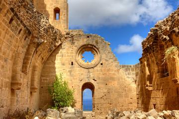 Historic Bellapais Abbey in Kyrenia, Northern Cyprus.