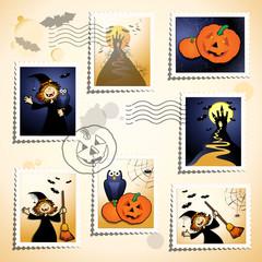 Halloween stamps set