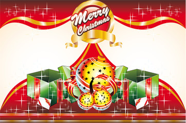 Christmas Card with front and retro cover
