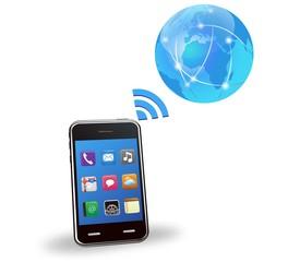 ベクター、スマートフォンとグローバルネットワーク