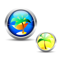 Tropical Button Set