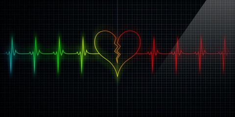 Colorful Broken Heart Monitor