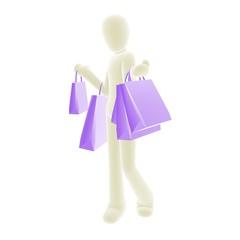 shopping white