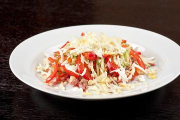 Meat tasty salad