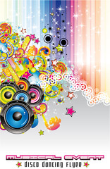 Music Colorful Background for Flyers