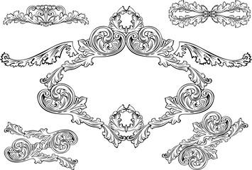 Vintage Barocco Frames And Design Elements