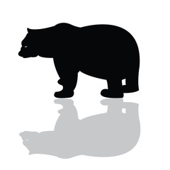 Silhouette of black bear vector