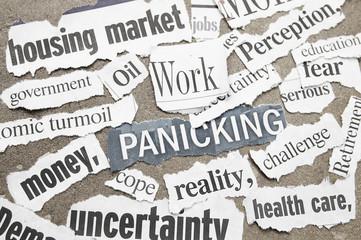 Negative newspaper economic headlines