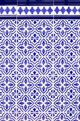 Andalusian style spanish blue ceramic tiles