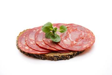 Spanische Salami auf Brot