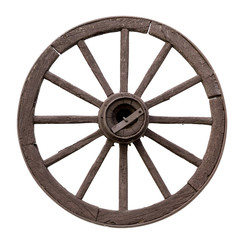 Chariot wheel on a white background