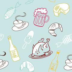 Food seamless pattern.