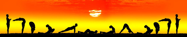 Steps of Yoga surya namaskar sun salutation