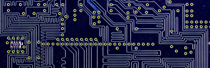 Close-up veew of the abstract microcircuit.